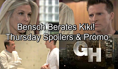 General Hospital Spoilers: Thursday, August 23 - Finn Lays Eyes On Cassandra - Bensch Berates Kiki - Mystery Patient Foreshadows Danger