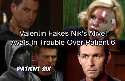 General Hospital Spoilers: Valentin Makes Ava Think Nikolas Is Patient 6 - Ava Looks Too Deeply, Griffin and Anna to the Rescue