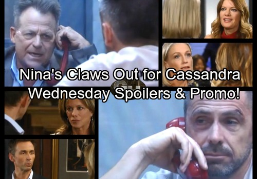 General Hospital Spoilers: Wednesday, November 15 – Nina Drops a Bomb on Cassandra – Lulu's Exciting News – Scott Warns Julian