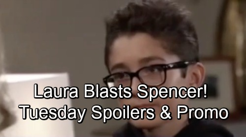 General Hospital Spoilers: Tuesday, October 16 – Spencer's Move Brings Laura's Wrath – Jealous Maxie Fumes – Sam's Promise to Drew