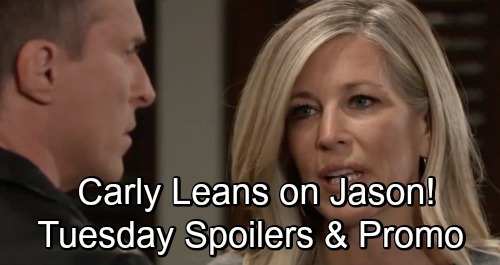 General Hospital Spoilers: Tuesday, November 13 – Panicked Carly Leans on Jason – Margaux Baffled by Sonny's Kindness