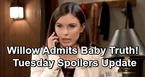 General Hospital Spoilers: Tuesday, April 16 – Willow Tells Michael Her Baby's Alive – Brad Lies for Shiloh – Daisy's Disturbing News