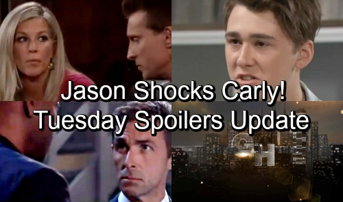 General Hospital Spoilers: Tuesday, September 25 Update – Jason Shocks Carly - Nina's Bittersweet Outing – Brad's Dangerous Idea