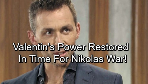 General Hospital Spoilers: Valentin's Dark Power Restored in Time for Vengeful Nikolas War