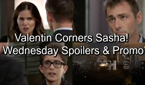 General Hospital Spoilers: Wednesday, October 17 – Valentin Corners Suspicious Sasha – Peter Warns Drew – Oscar Seeks Final Favor