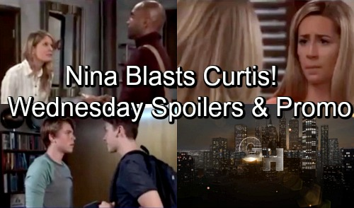 General Hospital Spoilers: Wednesday, October 3 – Nina Blasts Curtis – Carly Helps Heartbroken Josslyn – Oscar's Confession