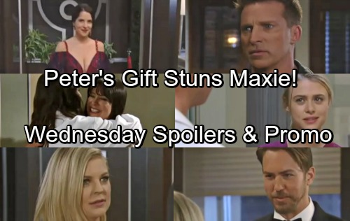 General Hospital Spoilers: Wednesday, May 16 – Carly Locked Up For Nurses Ball – Peter's Gift Shocks Maxie – Robin Returns
