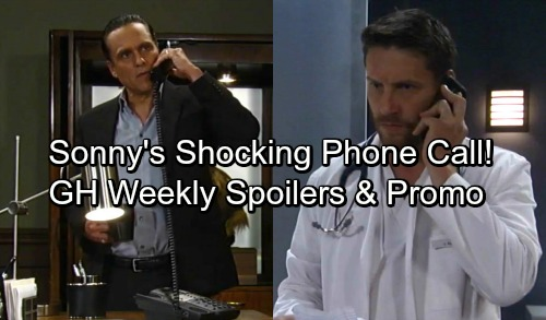 General Hospital Spoilers: Week of September 25 - Sonny Gets Shocking Phone Call For Patient 6 - Zackary Grant Haunts Nelle