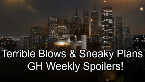 General Hospital Spoilers: Week of November 26 – Terrible Blows, Sneaky Plans and Shocking Showdowns