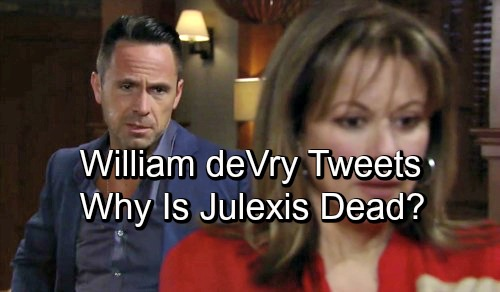 General Hospital Spoilers: William deVry Fires Back at Twitter Attackers – Insists He 'NEVER Wanted Julexis to Go Away'