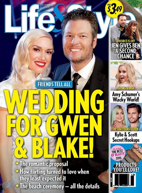 Gwen Stefani and Blake Shelton Wedding Report: Gwen Hooking Up With Moby, The Voice Coaches Not Even Dating?