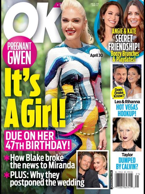 Gwen Stefani Pregnant With Baby Girl: Blake Shelton Tells Miranda Lambert He's Expecting Birth of First Child