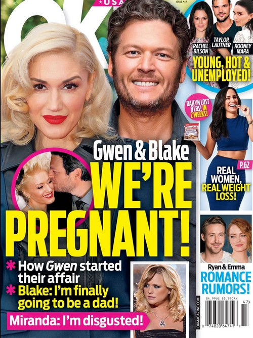 Gwen Stefani Pregnant With Blake Shelton's Baby: Miranda Lambert Disgusted - Couple Starting a Family?