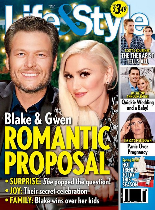 Gwen Stefani Proposed to Blake Shelton, Couple Engaged – Wedding Secret Until After Gavin Rossdale Divorce Final?