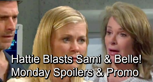 Days of Our Lives Spoilers: Monday, September 17 – Hattie Impersonates Marlena, Blasts Sami and Belle – Claire Kisses Tripp