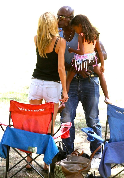 Heidi Klum and Seal Kissing Holding Hands PDA: Back Together at Family Outing (PHOTOS)