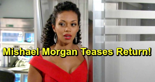 The Young and the Restless Spoilers: Mishael Morgan Teases Return - Devon Shocked by Hilary's Doppelganger