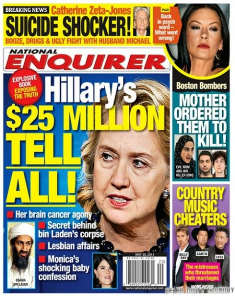 Hillary Clinton's Lesbian Secrets Revealed In The 'National Enquirer' (Photo)