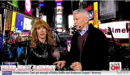 Kathy Griffin Sheds Her Clothing Alongside Anderson Cooper On Live TV