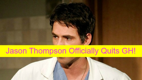 General Hospital Spoilers: Jason Thompson Officially Quits GH - Replacing Burgess Jenkins on The Young and the Restless?