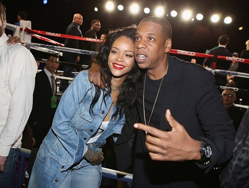 Beyonce Jealous as Jay-Z and Rihanna Hug Up for Pics at Roc Nation Sports Debut: Skewered by Boxer Adrien Broner