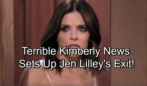 Days of Our Lives Spoilers: Theresa Receives Terrible News About Kimberly – Sets Up Jen Lilley's Startling DOOL Exit