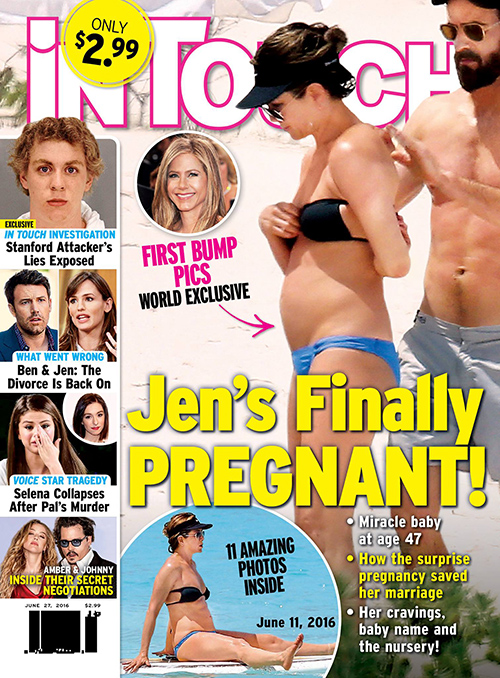 Jennifer Aniston Pregnant With First Child: Baby Bump Pics