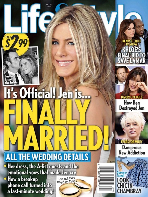 Jennifer Aniston and Justin Theroux Finally Married In Secret Wedding Ceremony After 3 Year Engagement?