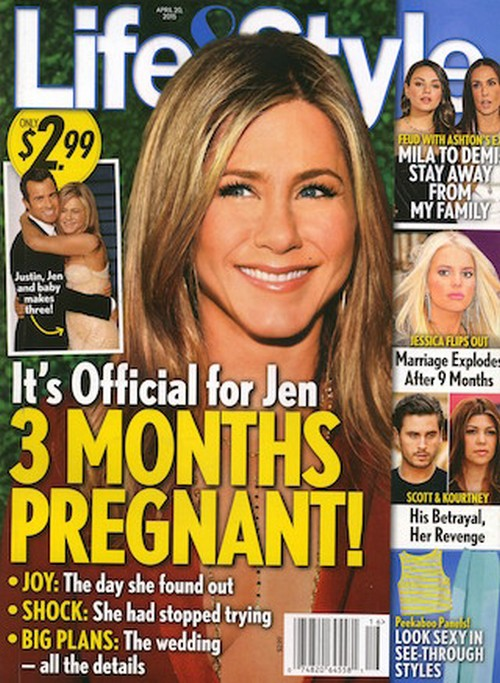 Jennifer Aniston Three Months Pregnant With Justin Theroux's Child?