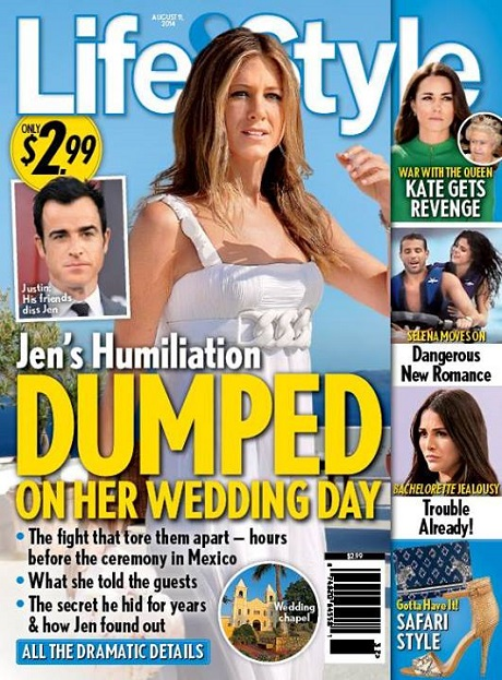 Jennifer Aniston Dumped By Justin Theroux On Wedding Day In Cabo - Marriage On Permanent Hold?