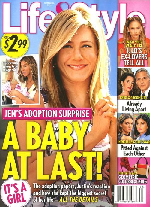 Jennifer Aniston, Justin Theroux Baby At Last - Adopting a Child (PHOTO)