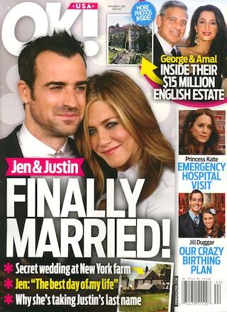 Jennifer Aniston and Justin Theroux Secretly Married - Wedding at New York Farm (PHOTO)
