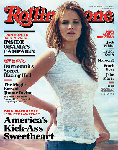 Jennifer Lawrence Wears A See-Through Shirt On The Cover Of Rolling Stone