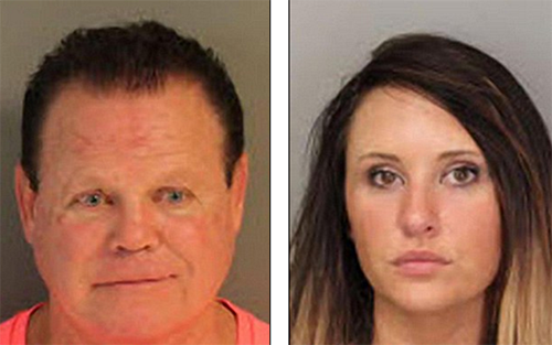 WWE Wrestler Jerry Lawler And Girlfriend Lauryn McBride Arrested On Domestic Violence Charges - WWE Immediately Suspends Him