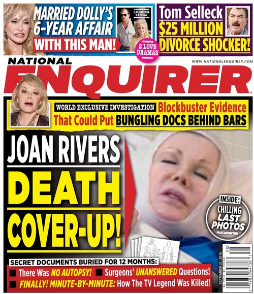 Joan Rivers Death Cover Up: Could Doctors Be Arrested for Criminal Errors?