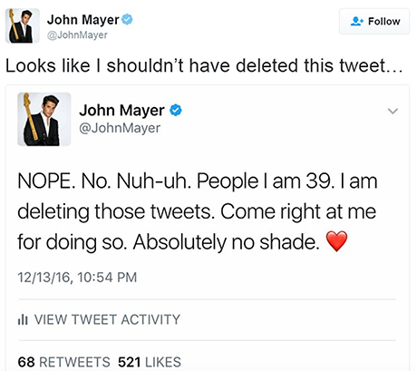 John Mayer Shades Taylor Swift On Her Birthday With Major Diss: John Still Not Over Their Nasty Breakup?