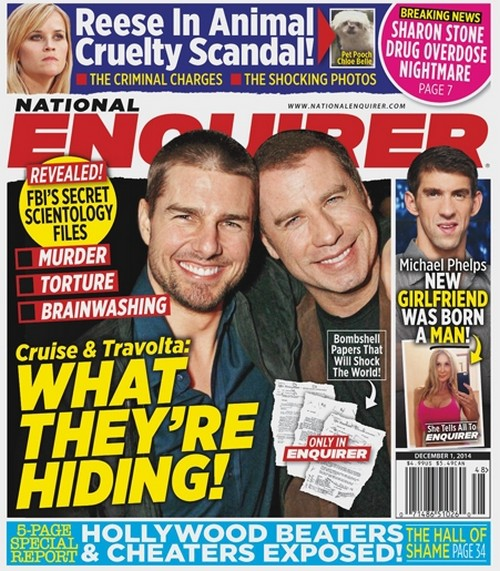 Tom Cruise and John Travolta Hiding Scientology Secrets According to FBI Files - Report (PHOTO)