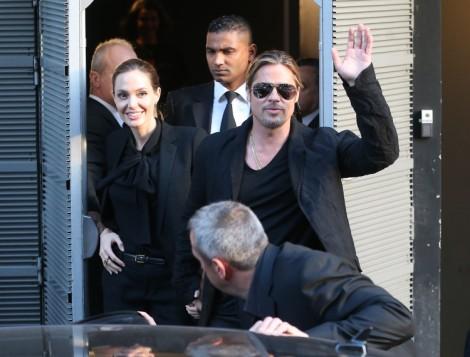 Angelina Jolie Bans Brad Pitt's Friends Quentin Tarantino And Jonah Hill From The Wedding! 0614