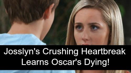 General Hospital Spoilers: Josslyn's Emotional Meltdown, Learns Oscar's Death Is Near – Tragic Struggles Break Tender Hearts