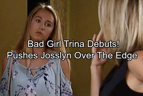 General Hospital Spoilers: Bad Girl Trina Debuts, Makes Angry Josslyn Even Worse - Throws Drunken Rager While CarSonGone