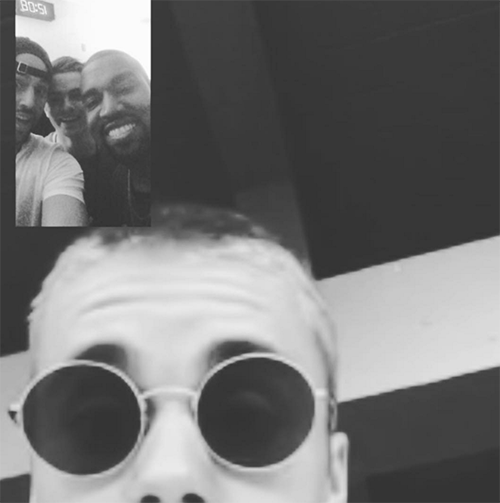 Justin Bieber Officially Sides With Kanye West In Taylor Swift Feud: Posts Pic Of Yeezy Laughing In T-Swift's Face? (PHOTO)