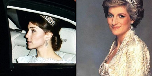 Kate Middleton Dares To Wear Princess Diana Tiara:Touching Tribute or Manipulative Move To Undermine Camilla Parker-Bowles?