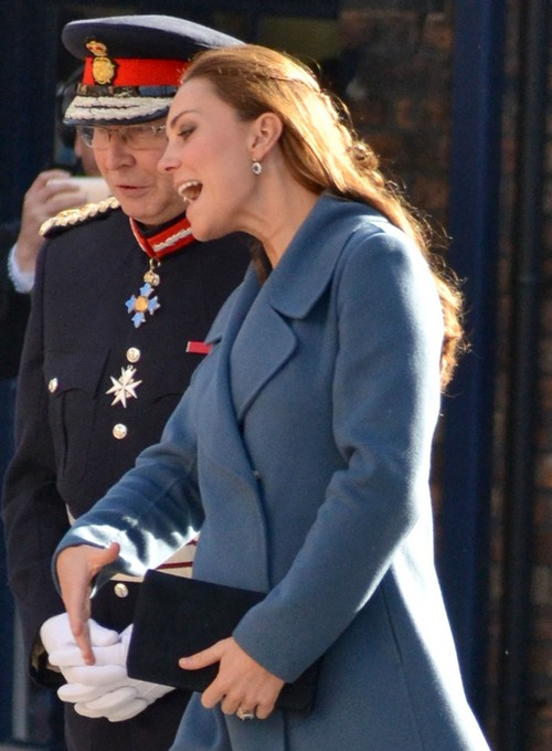 Kate Middleton Shows Grey Hair and Massive Baby Bump At Children's Charity Visit - Overworked As Due Date Nears?