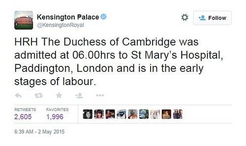 Kate Middleton In Labor: Rushed To St. Mary's Hospital - Admitted and Giving Birth To Baby Now