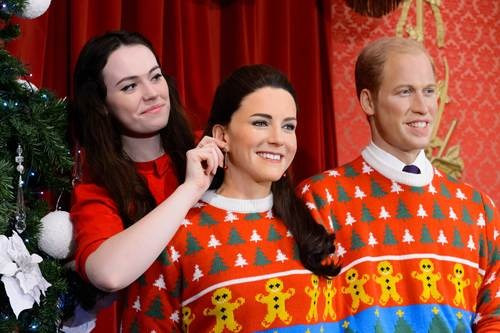 Kate Middleton Dresses In Silly Clothes For Charity: Madame Tussauds Christmas Campaign