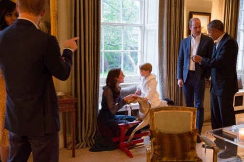 Kate Middleton Meets President Obama: Prince George Thanks First Lady For Rocking Horse - Prince Harry Royal Photo Ops