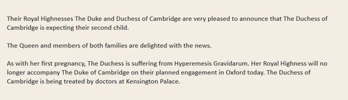 Kate Middleton Pregnant, Miscarriage: UPDATE Palace Confirms Second Child Pregnancy! (PHOTOS)