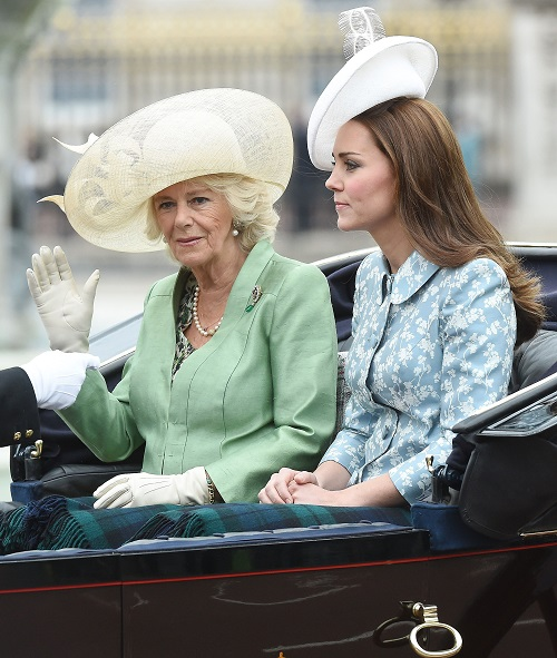 Kate Middleton Attends 2015 Trooping The Colour Beside Camilla Parker-Bowles: Plays With Prince George, Lost All Baby Weight