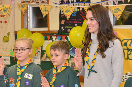 Kate Middleton Pregnant And Hiding Baby Bump With Oversized Sweater At Cub Pack Celebration?