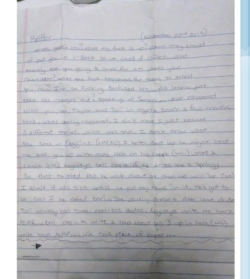 Jenelle Evans Ex Keiffer Delp Out Of Jail: Posts Photo Of Letter Courtland Rogers